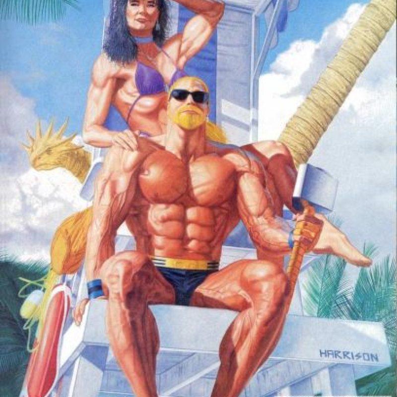 Thor parece un cantante de heavy metal. Está acompañado de Sif. Foto:vía Marvel