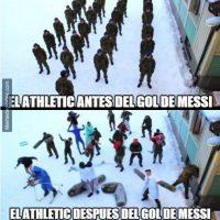 El gol de Messi desarmó la táctica del Athletic. Foto:memedeportes.com