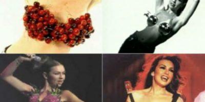 ¿Cosas en el bra? Thalía ya lo hacía. Foto:vía Tumblr