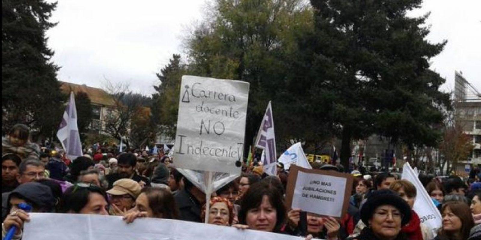 Esta protesta forma parte de actividades que durarán hasta el viernes. Foto:Vía Twitter @ruben_munoz