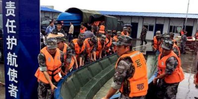 """El hundimiento del ferry """"Dongfangzhixing"""" podría ser una de las peores tragedias marítimas de China. Foto:AFP"""