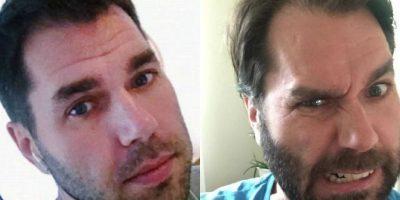 Denuncian a este papá por quedar irreconocible con barba