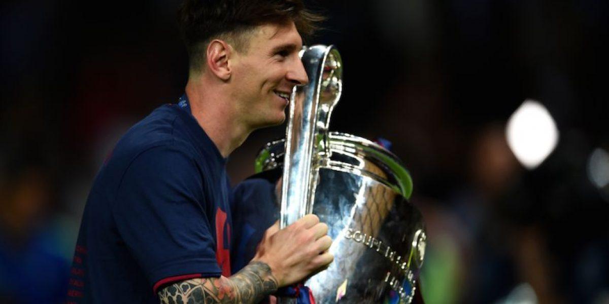Champions League: El festejo más tierno de Lionel Messi