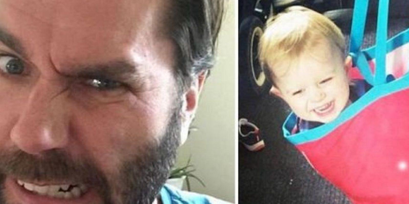 """""""Cuando dos autos de la policía tratan de arrestarme mientras tomo café, sé que es momento de afeitarme la barba"""". Foto:Vía Facebook.com/kristoffer"""