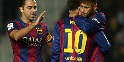 """""""Ney"""" quería que Xavi se acercara a la gente, pero el ahora futbolista del Al-Sadd de Catar se negó Foto:Getty Images"""