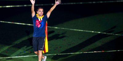 Xavi se despidió del Barcelona con el título de la Champions Foto:Getty Images