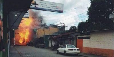 Imágenes de la explosión de pipa de gas en San Marcos