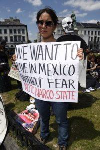 Las protestas en contra del presidente Enrique Peña Nieto Foto:AFP