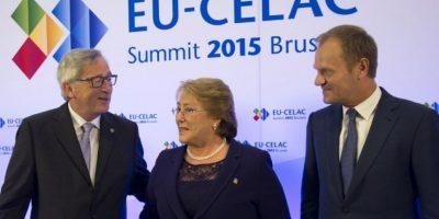 """Jean-Claude Juncker, presidente de la Comisión Europea, anunció que en este encuentro se darán a conocer nuevos programas de ayuda a América Latina, entre los que destacan 118 millones de euros destinados a """"aumentar la cooperación empresarial y las inversiones de la UE"""". Foto:AFP"""