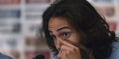 Edinson Cavani vivió un momento bochornoso en la conferencia de prensa de Uruguay, previo al arranque de la Copa América. Foto:AFP