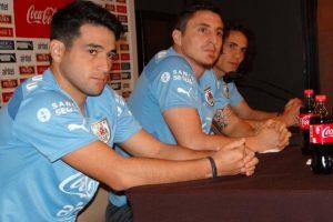 """El delantero uruguayo habló de los rivales de la """"Celeste"""" en el grupo B. Foto:Vía facebook.com/aufoficial"""