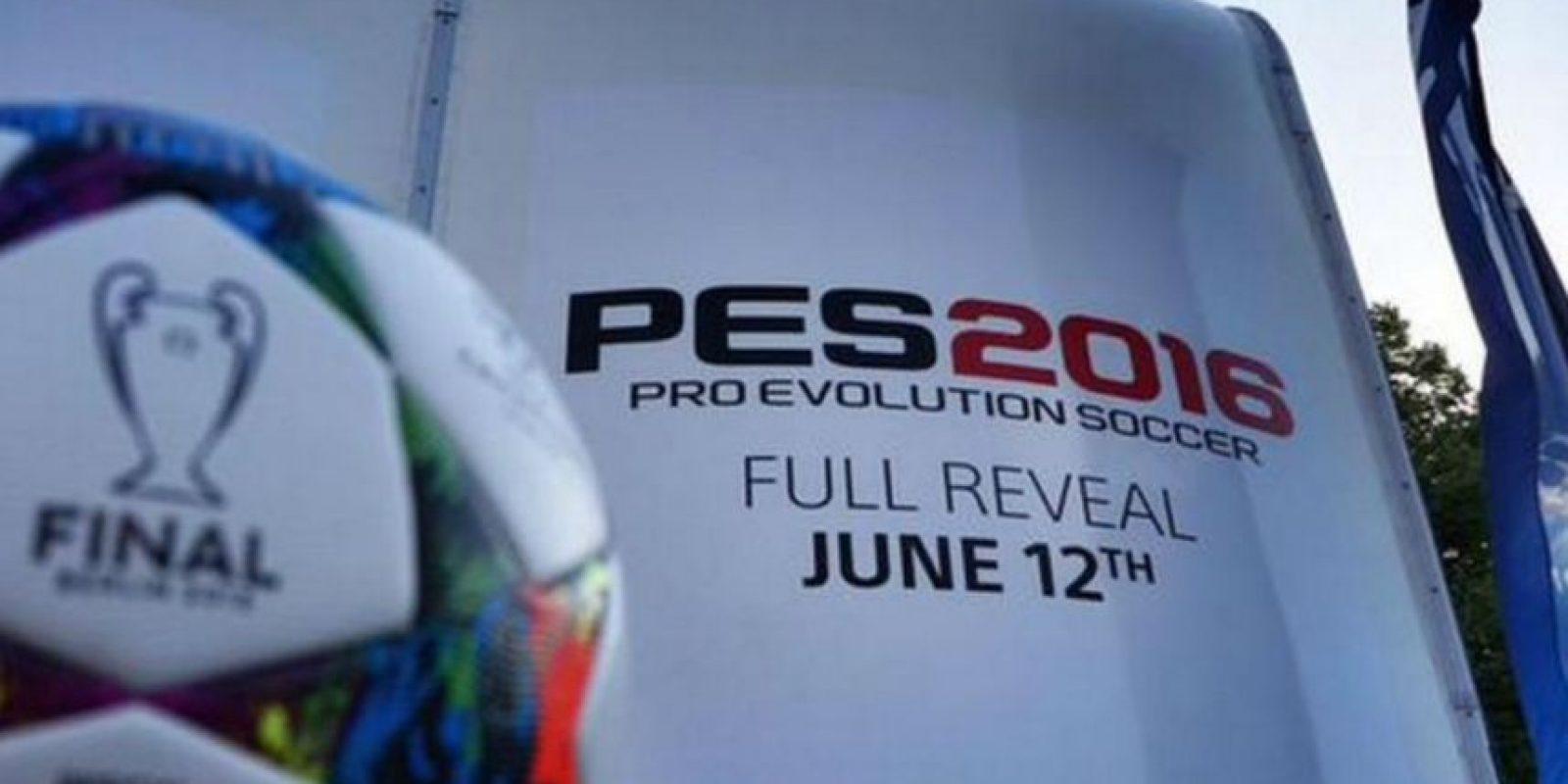Promoción en la final de la UEFA Champions League. Foto:Konami