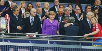 Merkel asistió a la final de la UEFA Champions League 2013 entre el Bayern Múnich y el Borussia Dortmund. Foto:Getty Images