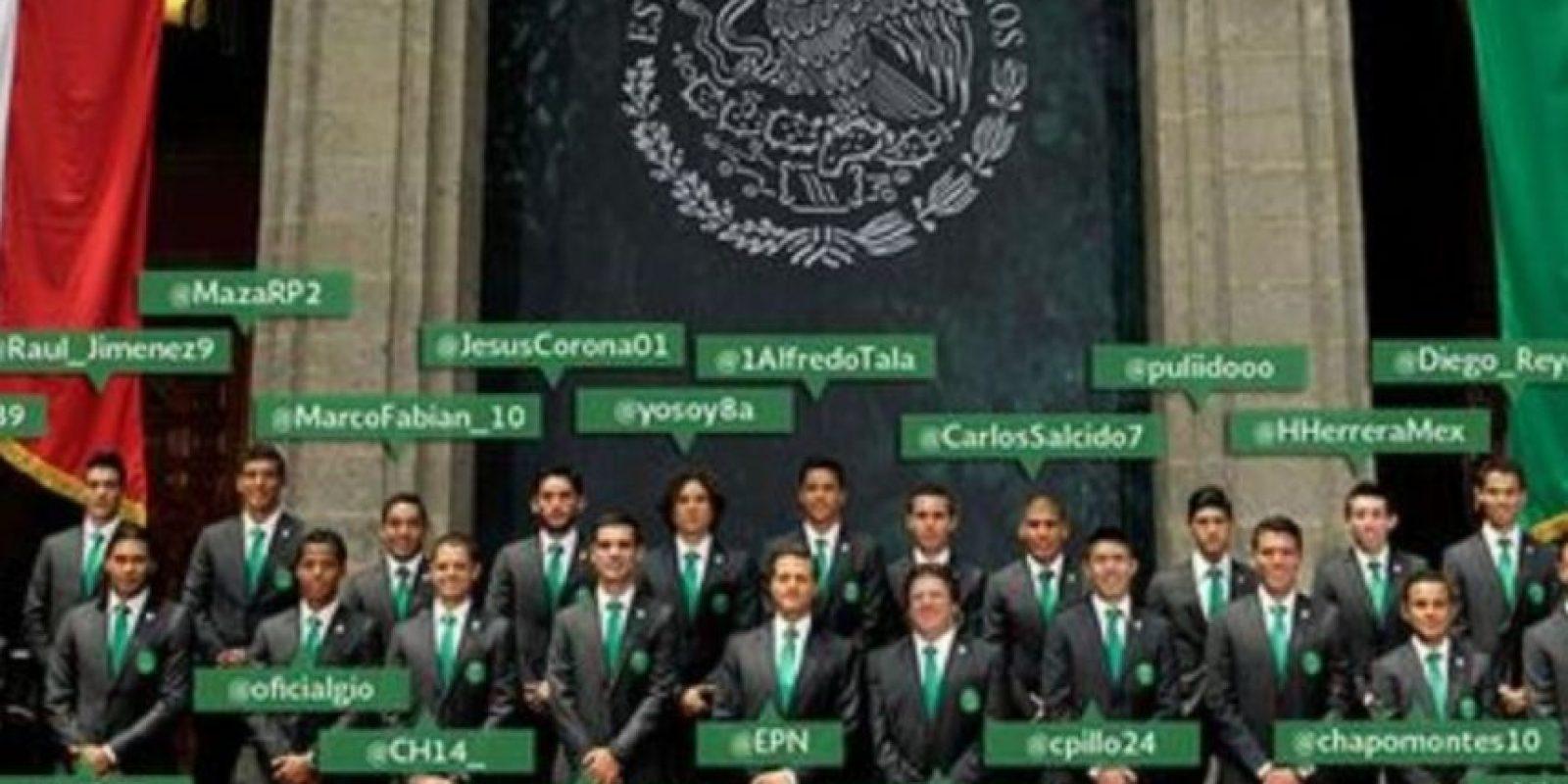 Peña Nieto deseó suerte a la Selección mexicana antes del Mundial 2014. Foto:twitter.com/EPN