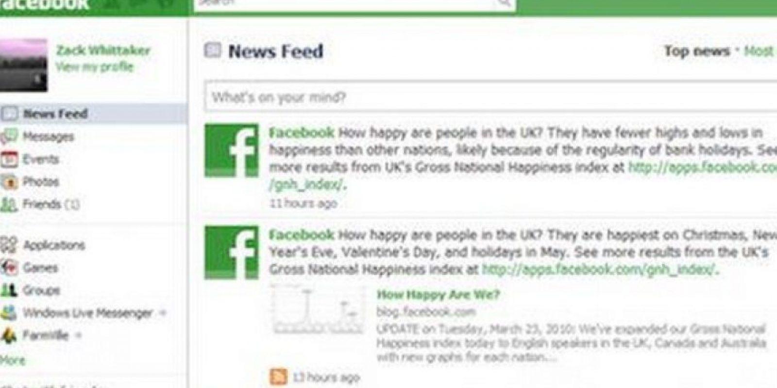 Facebook es color azul y no hay forma de modificarlo. Foto:Twitter