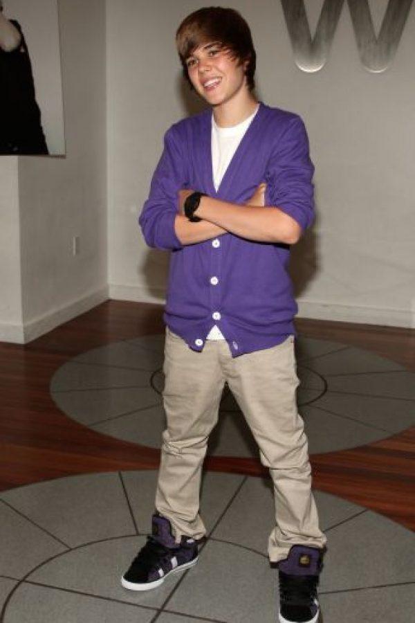 8.- Justin Bieber en sus inicios Foto:Getty Images