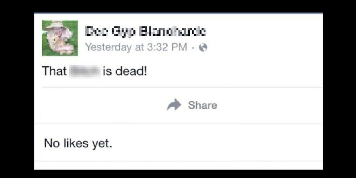 Este podría ser el estado de Facebook más aterrador de la historia