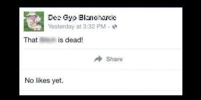 Este fue el estado que un asesino puso en la cuenta de su víctima. Foto:Vía Facebook