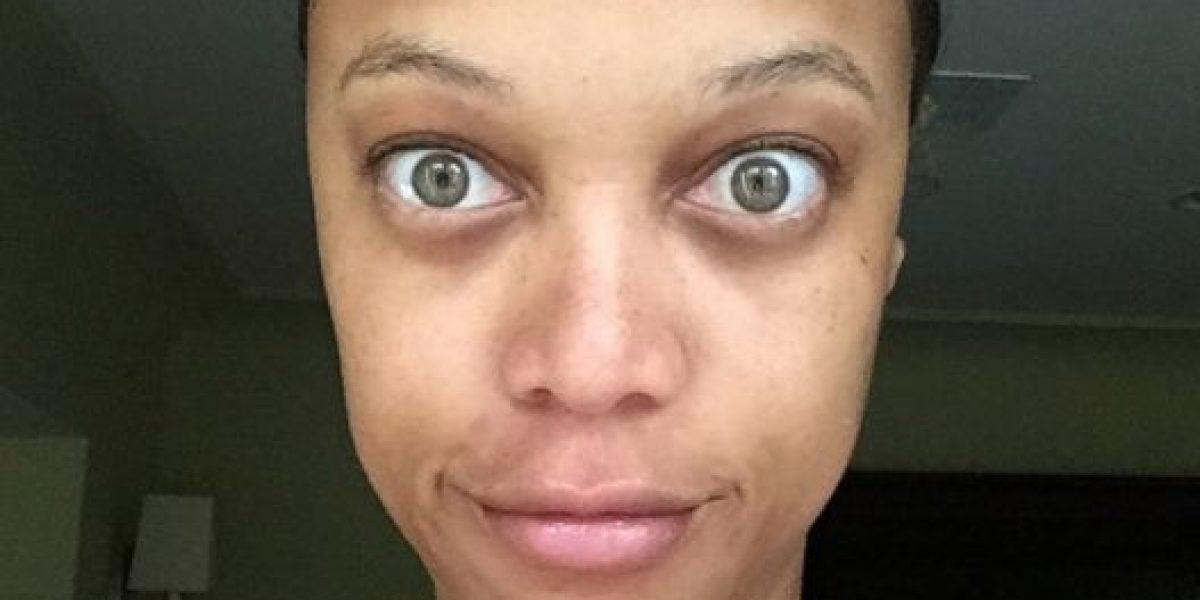 La modelo Tyra Banks se muestra tal como es... se quitó el maquillaje