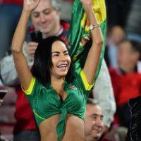 Maité Flores volvió a robar suspiros en las tribunas Foto:AFP