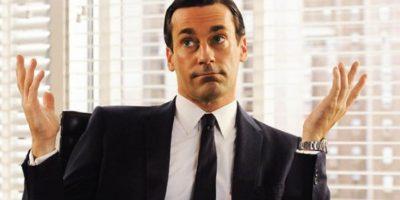 """7. """"Don Draper"""" de """"Mad Men"""" vivía para su trabajo, las mujeres y el alcohol. Foto:vía AMC"""