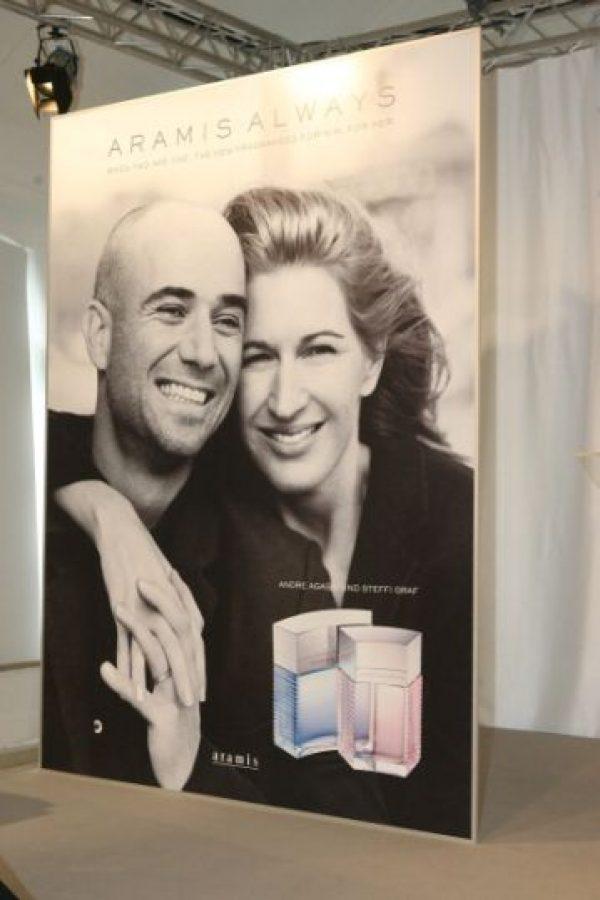 """La pareja de exitosos extenistas presentó en 2003 su propia línea de fragancias en coordinación con """"Estée Lauder"""": """"Aramis Always for him"""" y """"Aramis Always for her"""". Foto:Getty Images"""
