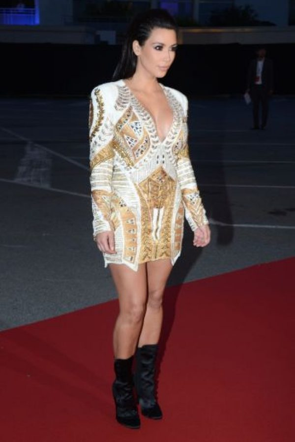 Kim con un vestido corto Foto: Getty Images