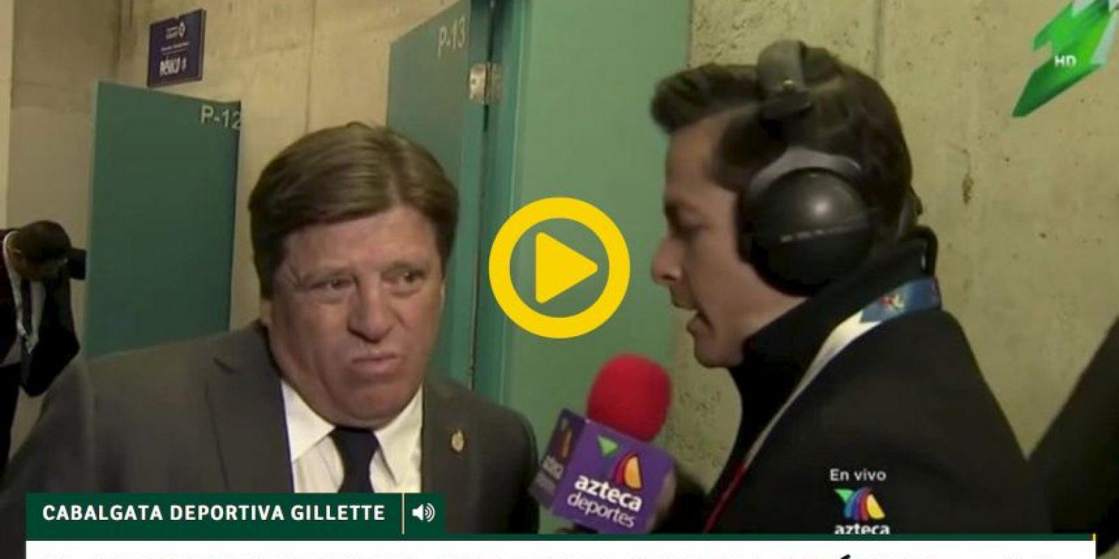 """Azteca Deportes presenta una entrevista en la que el """"Piojo"""" asegura que es el principal responsable del fracaso Foto:Azteca Deportes"""