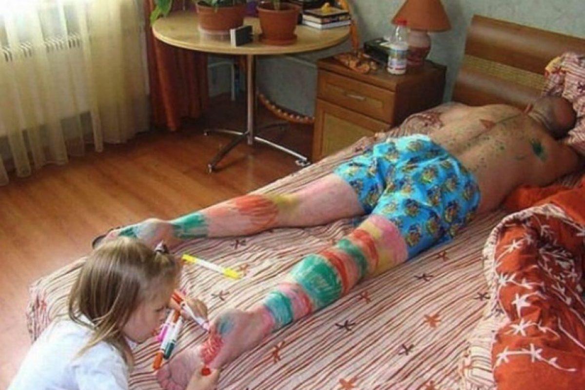 10. No dormir si tienen una pequeña artista Foto:reddit.com/user/Heavenisfulloffarts