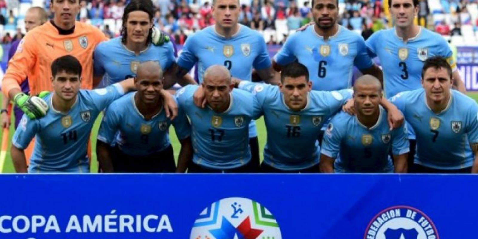 Los charrúas se meten a cuartos de final Foto:AFP