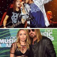 Brandi Cyrus celebró a Billy Ray Cyrus con este collage Foto:vía instagram.com/brandicyrus
