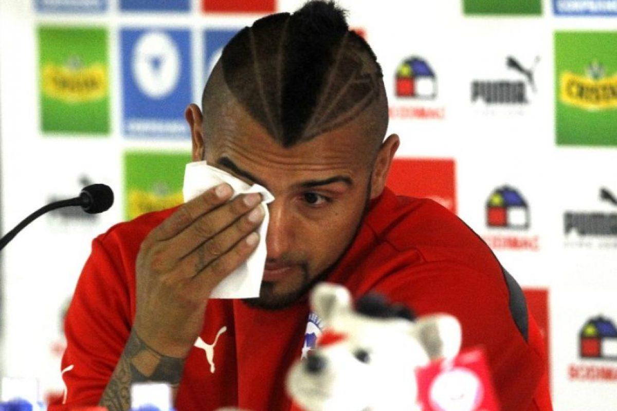 Arturo Vidal y el choque de su Ferrari Foto:AFP