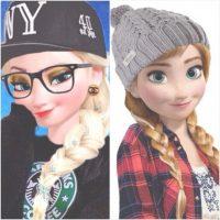 """La Elsa """"hipster"""", producto de Tumblr. Foto:vía Tumblr"""