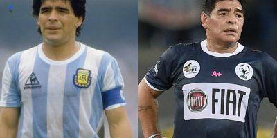 Así han pasado los años a a través de Diego Armando Maradona. Foto:Getty Images