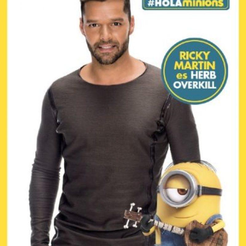 """Ricky Martin es """"Herb Overkill"""", esposo de """"Scarlet"""". Foto:Facebook/LosMinions"""