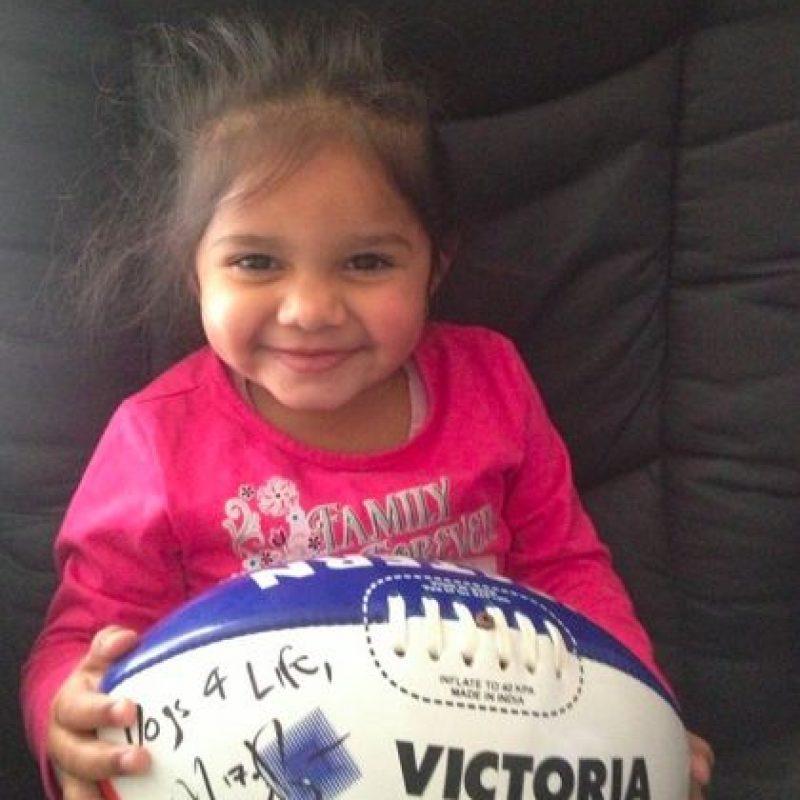 Samara Muir es una pequeña aborigen australiana de Ballarat. Foto:vía Facebook/Rachel Muir