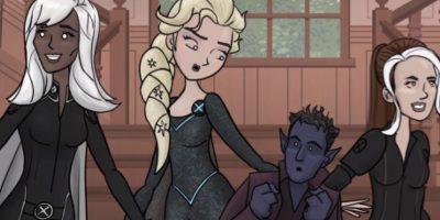 """La Elsa de """"How It Should Have Ended"""", que termina siendo parte del equipo de Charles Xavier. Foto:vía How It Should Have Ended."""