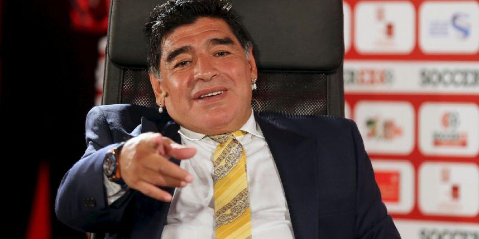 """Además """"el Diego"""" tenía un interés personal en este proceso, pues advirtió que si Al Hussein se convierte en presidente del organismo, él podría ser su vicepresidente. Foto:Getty Images"""