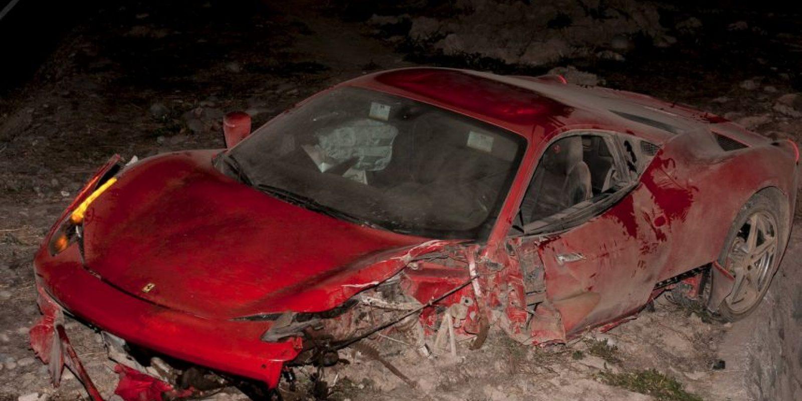 Así quedó el automóvil de Vidal Foto:AFP