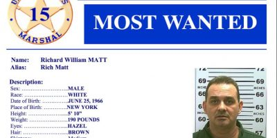 Por información que ayude a su captura la Policía ofrece 50 mil dólares. Foto:Vía usmarshals.gov