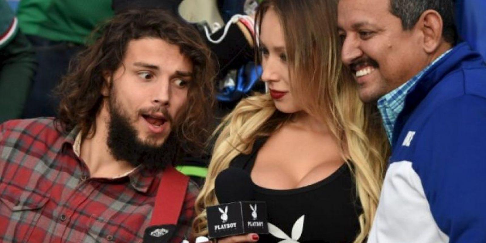 """Fue elegida como la """"Novia de la Copa América"""" por Playboy Foto:AFP"""