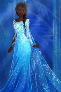 Elsa, como una bellísima afroamericana. Foto:vía Tumblr/JuliaJim 15