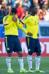 """Cuando todos pensamos que veríamos a una Colombia poderosa ante una débil -en el papel- Venezuela, la """"Vinotinto"""" nos sorprendió al vencer 1-0 a los """"cafetaleros"""" que llegaron como uno de los máximos candidatos a ganar la Copa América. Foto:Getty Images"""