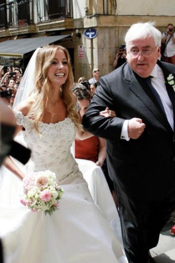El delantero de la Juventus se casó en Donista con Maria Lorente. Foto:Getty Images