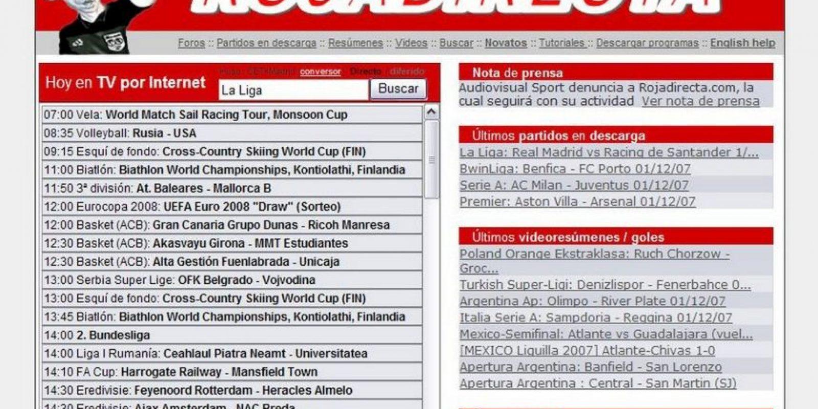Un juez español dictaminó que deje de transmitir partidos de fútbol, en caso de no hacerlo, obligará a que proveedores de Internet bloqueen el acceso a su sitio. Foto:Tumblr