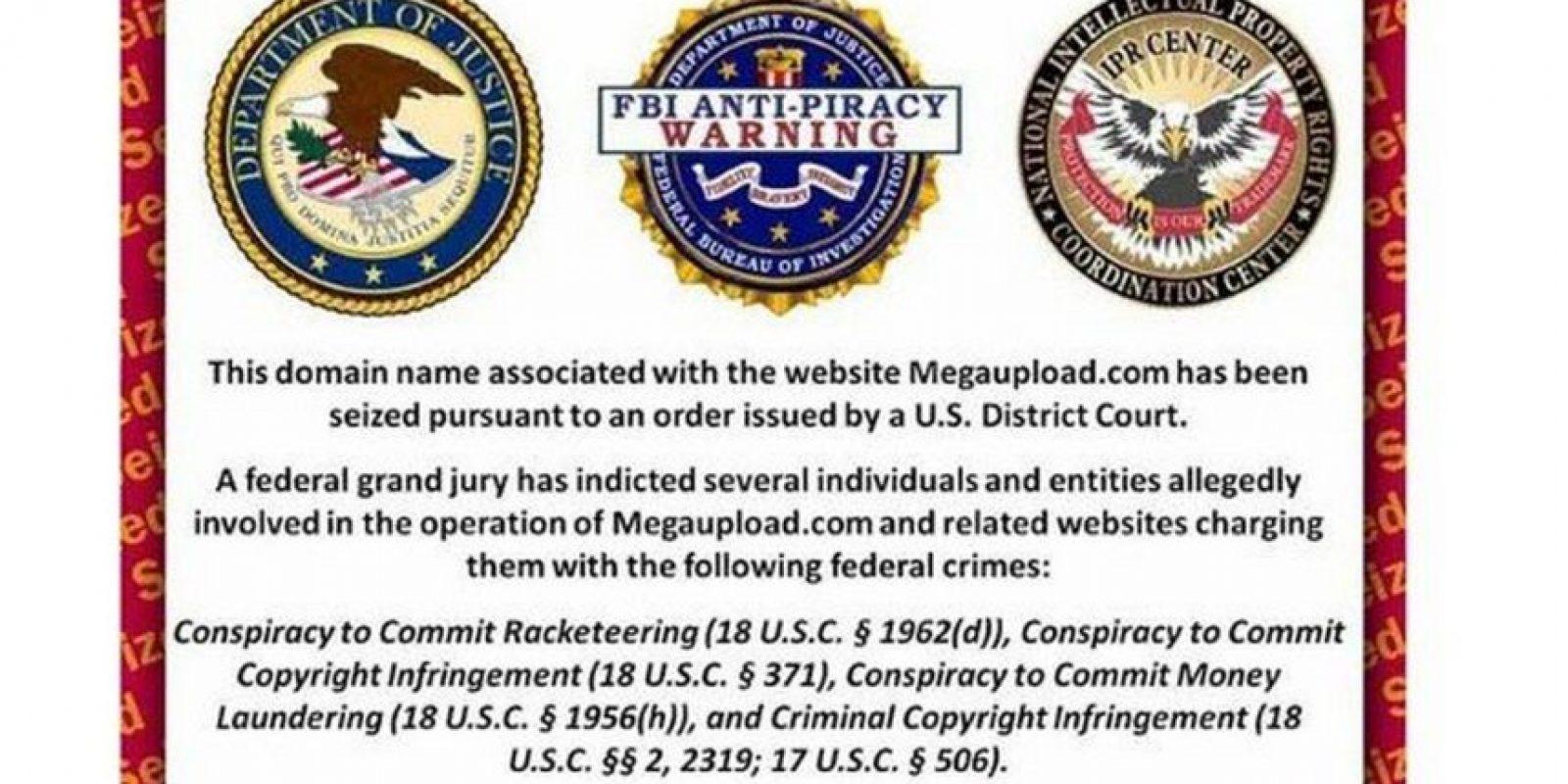 El sitio web de Kim Dotcom para intercambiar archivos fue cerrado en 2012 por el FBI. ¿La razón? Haber generado pérdidas de 500 millones de dólares en derechos de autor. Foto:Tumblr