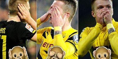 El futbolista alemán Marco Reus festejó en diversas ocasiones durante la temporada pasada imitando a los emojis. Foto:Tumblr