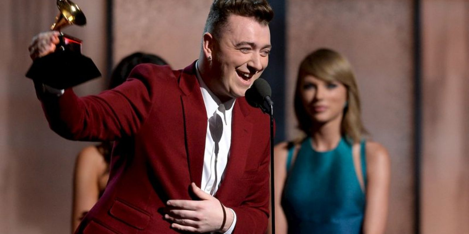 Taylor con Sam Smith Foto: Getty Images