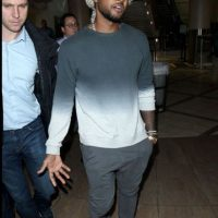 Usher, como David Crockett, el explorador. Foto: vía Getty Images