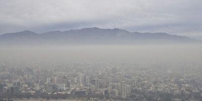 En Santiago se declaró una alerta ambiental. Foto:AFP